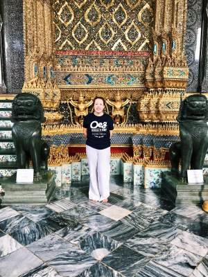 Behind the Temple of the Emerald Buddha-- we couldn't take pictures inside!